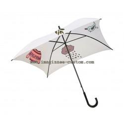 Paraguas blanco personalizado