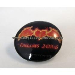 """Cabujón broche Fallas 2016 """"tinc el cor en flames"""""""